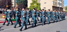 Desfile de honores de la Guardia Civil.