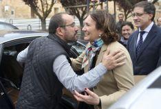 Imagen de la visita de la consejera a Berlanga de Duero este viernes. / SN