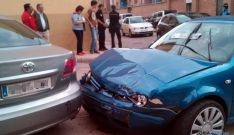 Un accidente leve en la capital./SN