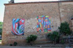Una de las obras expuestas en el pueblo.