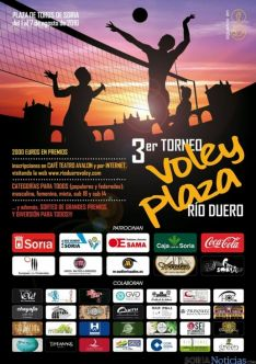 Cartel del III Torneo Voley Plaza.