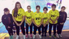 Jugadores del club en su último desplazamiento a Tordesillas./CVB