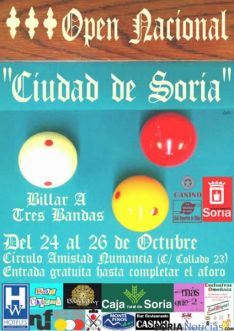 Cartel del Open de Billar