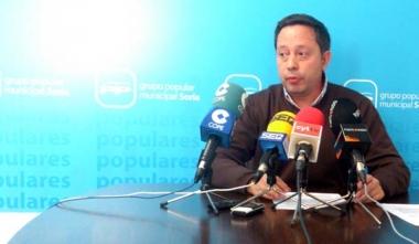 El concejal Adolfo Saínz este miércoles en rueda informativa
