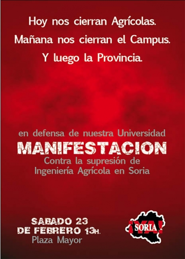 Cartel de la convocatoria