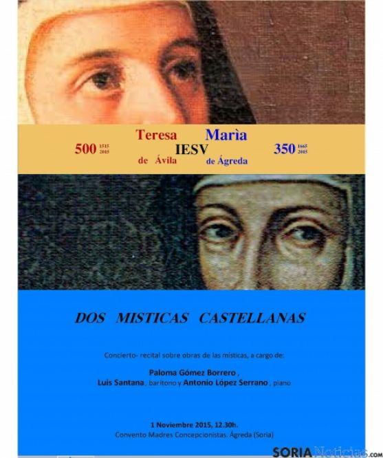Sor María y Santa Teresa, unidas en Ágreda.
