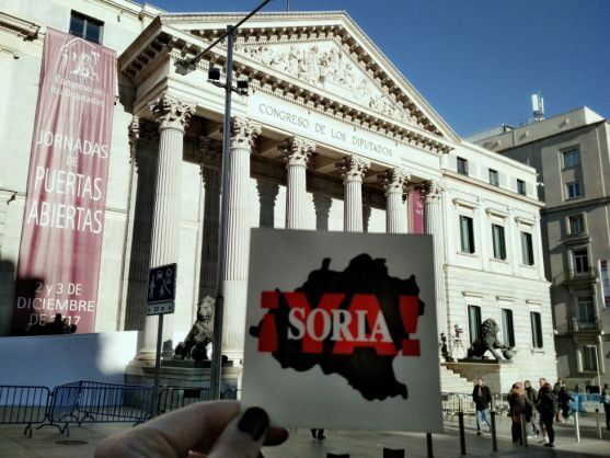 Movilización de Soria YA en Madrid.
