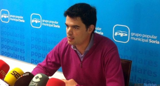 El concejal popular, Javier Sanz.