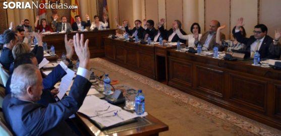 Sesión plenaria de la Diputación en una imagen de archivo. /SN