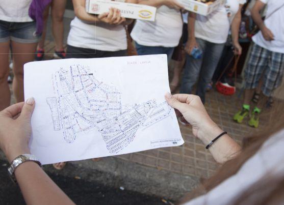 Plano del vecindario de la Cuadrilla de Santiago. SN