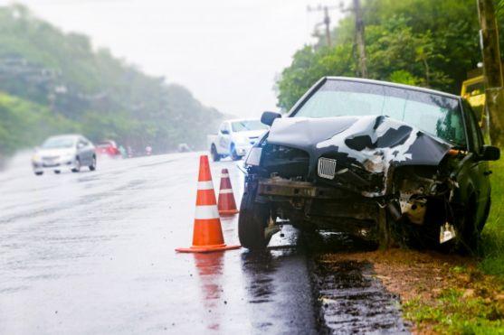 Siniestro de un vehículo. Imagen de archivo