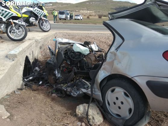 Lugar del accidente mortal. Soria Noticias.