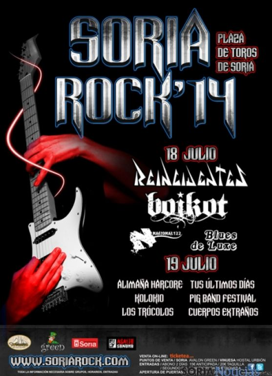 Cartel Soria Rock 2014