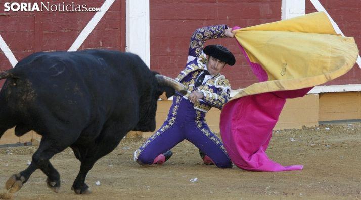 'El Fandi' recibiendo a 'Sardinero'./SN