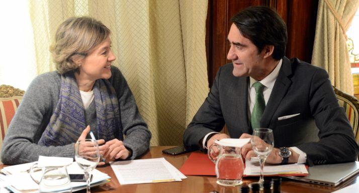 García Tejerina y Suárez-Quiñones este miércoles en la sede del MAPAMA.