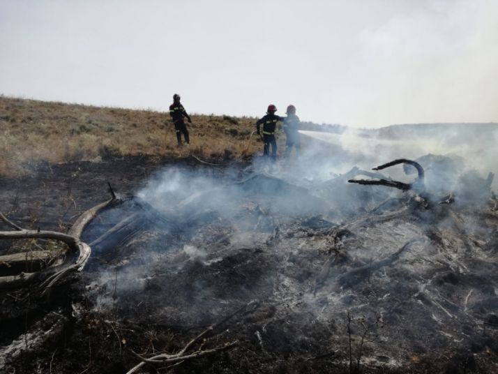 Incendio en Borchicayada. Diputación.