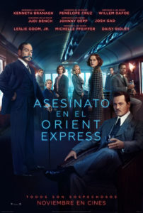 Cartel Asesinato en el Orient Express
