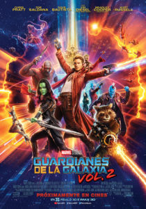 Cartel Guardianes de la Galaxia Vol. 2