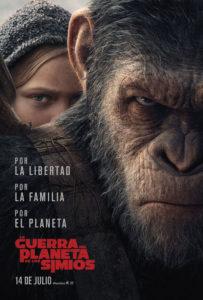 Cartel La Guerra del Planeta de los Simios