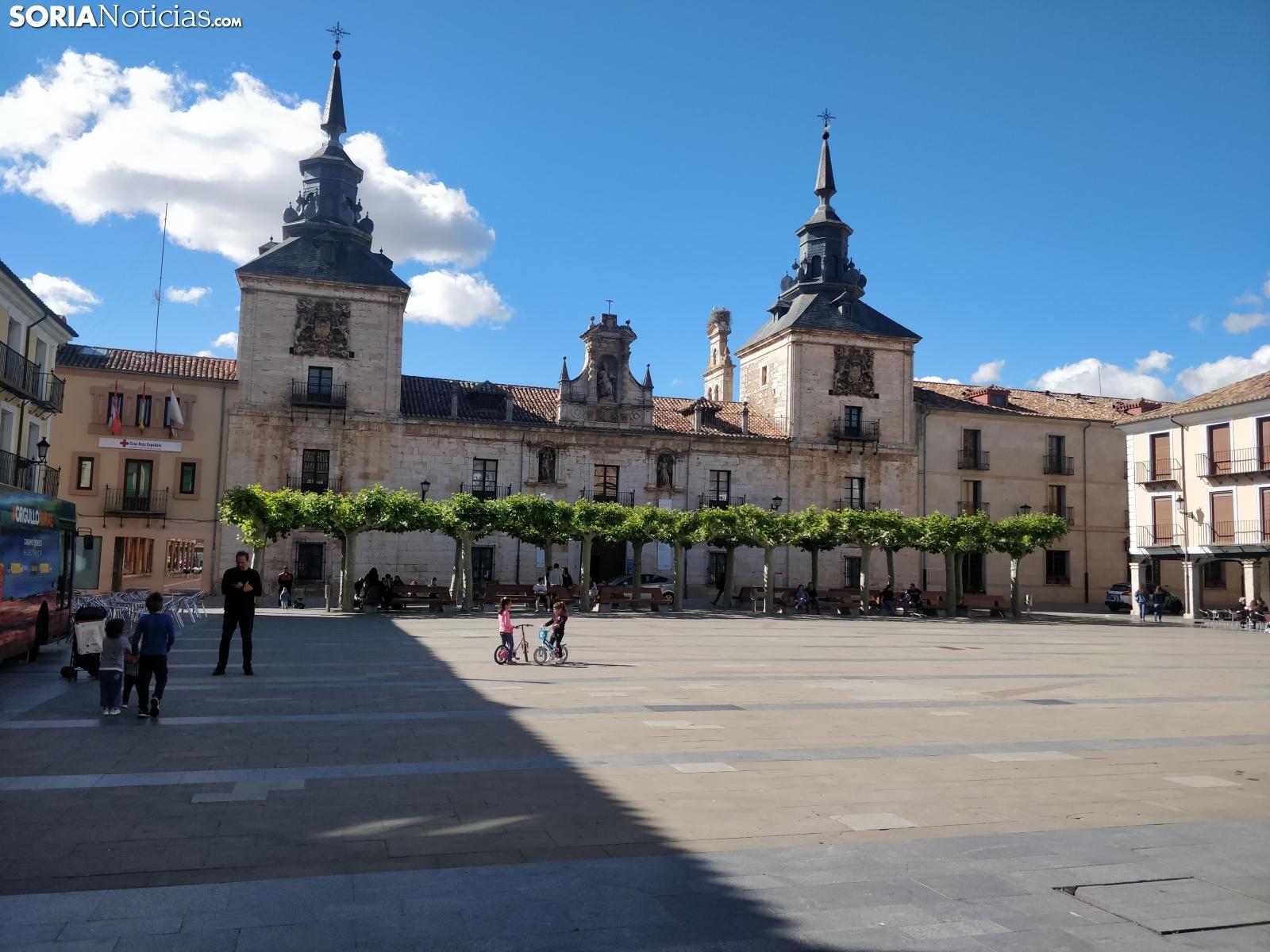 Plaza Mayor en El Burgo de Osma