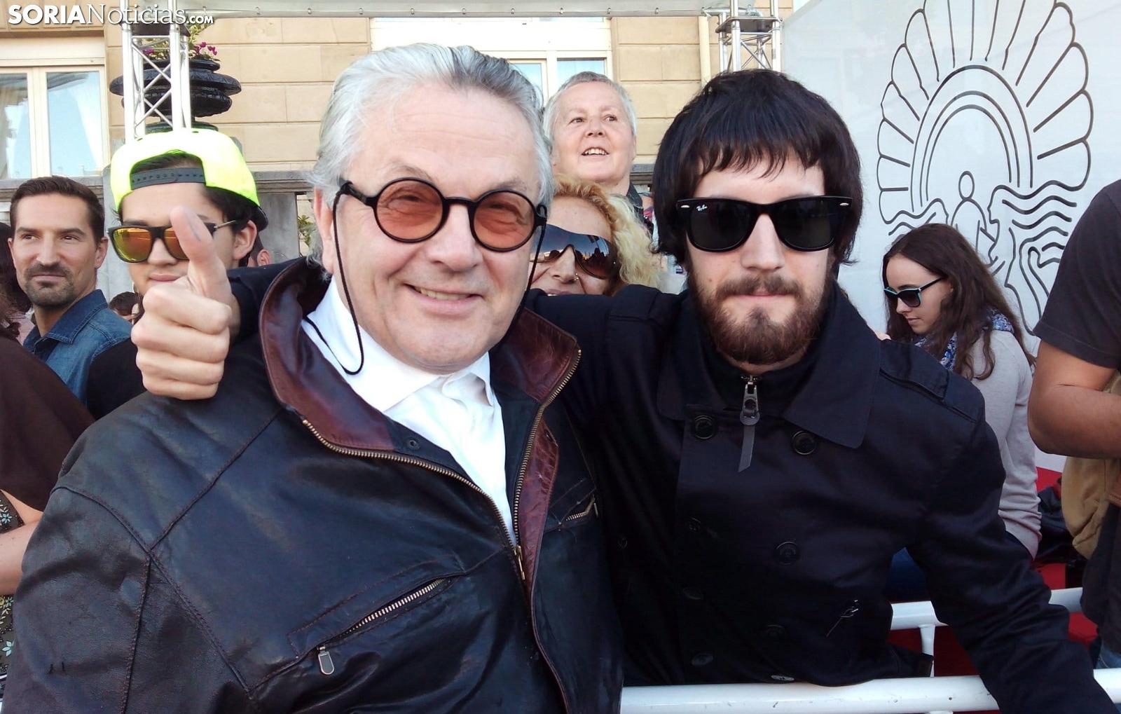 Alberto con George Miller