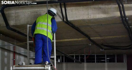 Un trabajador extranjero en Soria./SN