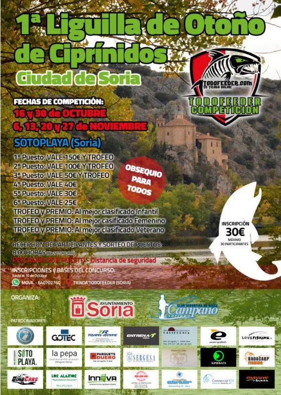 Comienza la 1ª Liguilla de Otoño de Ciprínidos en Soria | Imagen 1