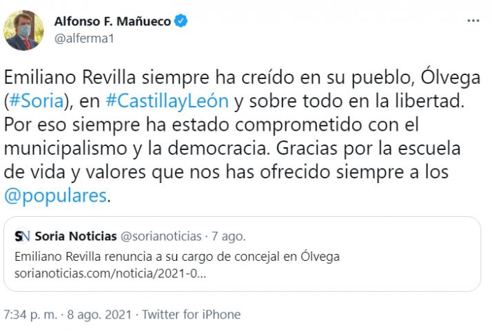 Pablo Casado agradece a Emiliano Revilla su labor en el PP  | Imagen 2