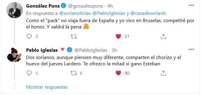 """Pablo Iglesias: """"Dos sorianos, aunque piensen muy diferente, comparten el chorizo y el huevo del jueves Lardero""""   Imagen 1"""