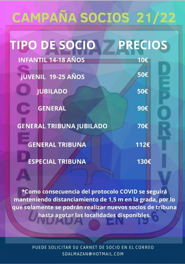 La S.D. Almazán lanza su campaña de abonados   Imagen 1