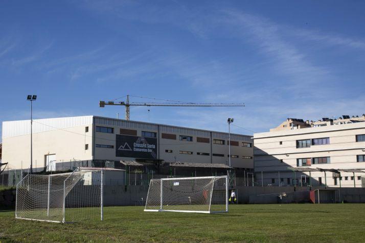 Campo de fútbol de Golmayo en Las Camaretas. /María Ferrer