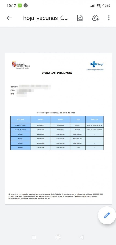 Cómo lograr el Certificado Covid en Castilla y León paso a paso   Imagen 9