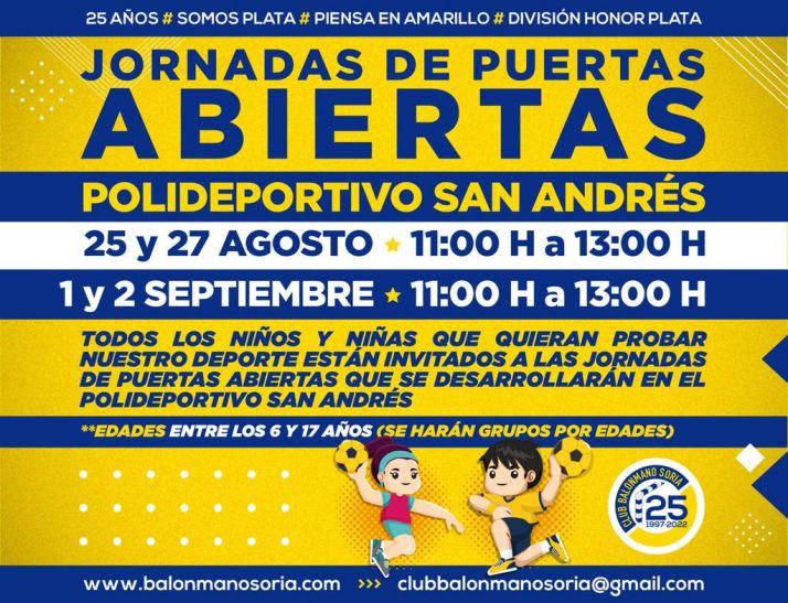 El Balonmano Soria invita a niños y niñas de 6 a 17 años a probar el deporte | Imagen 1
