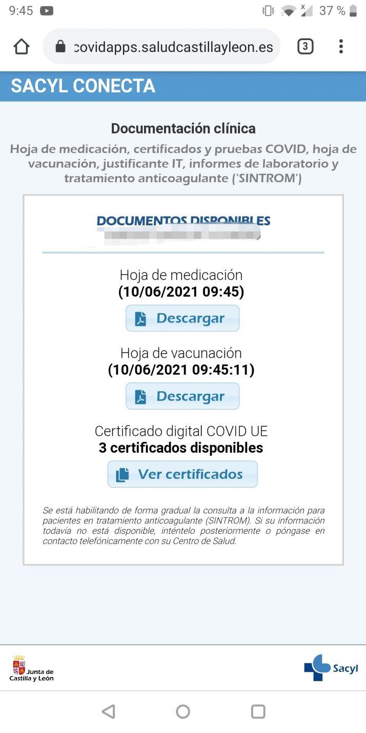 Cómo lograr el Certificado Covid en Castilla y León paso a paso   Imagen 5
