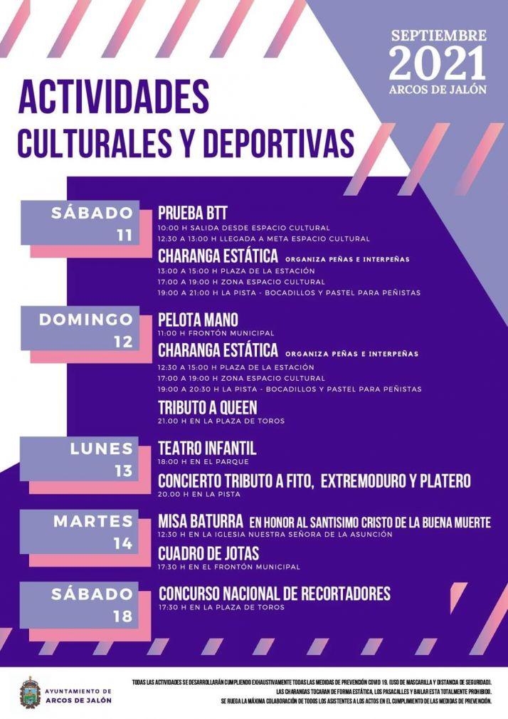 Una amplia programación cultural y deportiva recordará las fiestas en Arcos de Jalón | Imagen 1