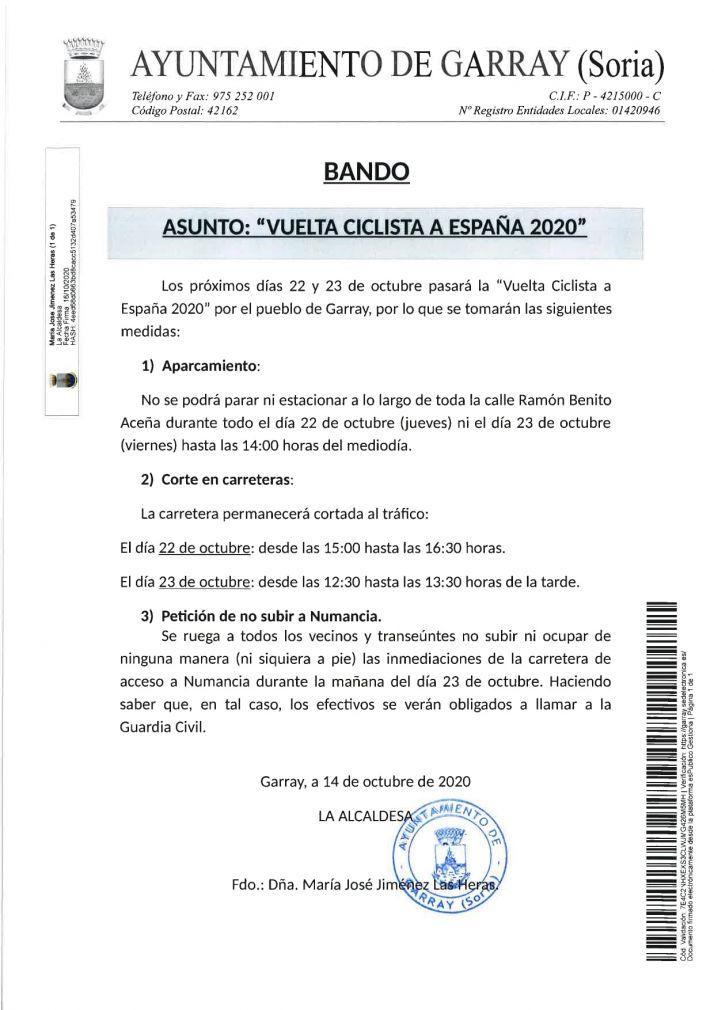 La Vuelta pide a los sorianos que no acudan a ver el paso de los ciclistas por la provincia | Imagen 2