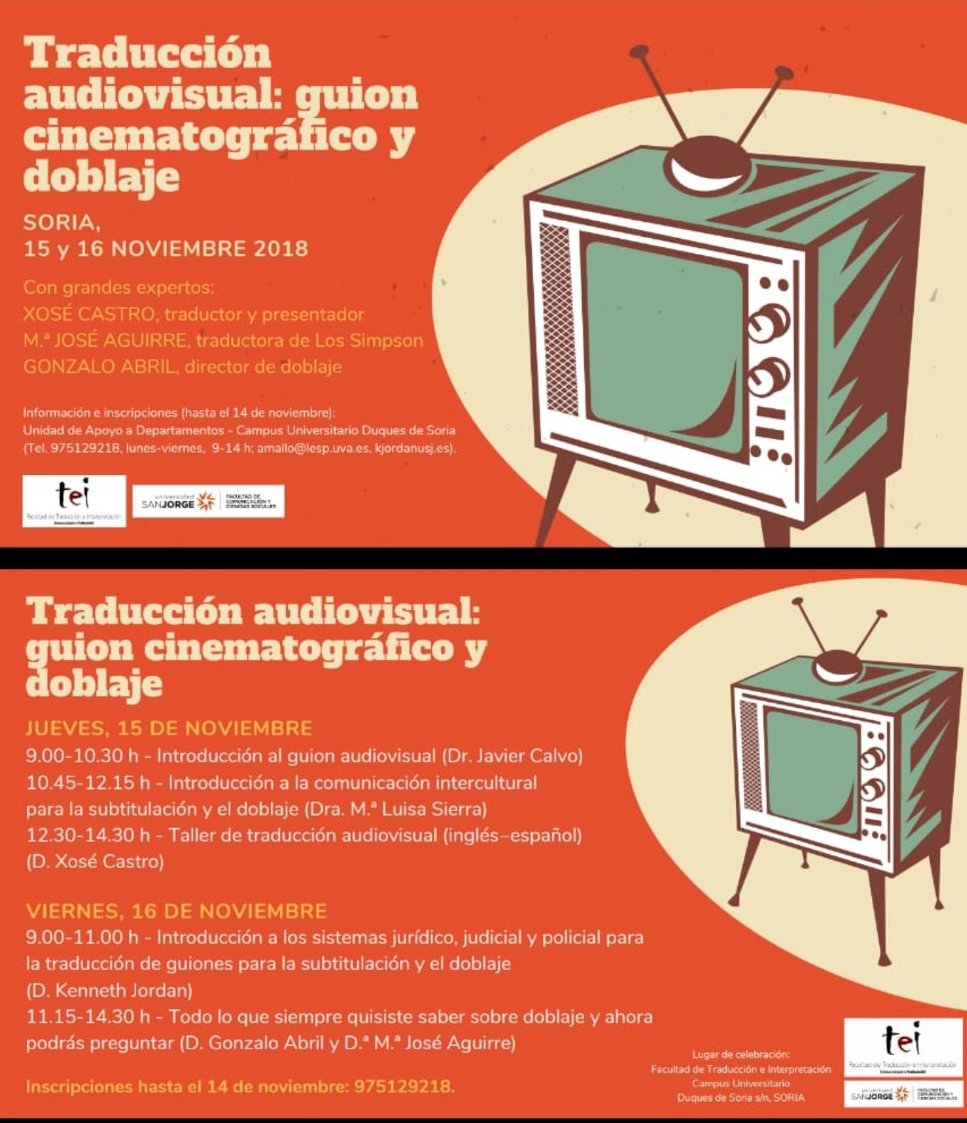 Curso de doblaje y traducción audiovisual en Soria   Imagen 1