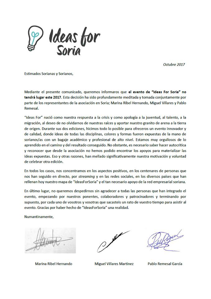 El 'Ideas for Soria' no se realizará en 2017 | Imagen 1